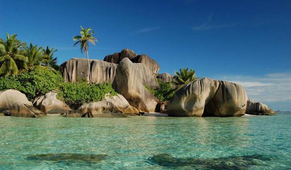 Der Strand der Seychellen