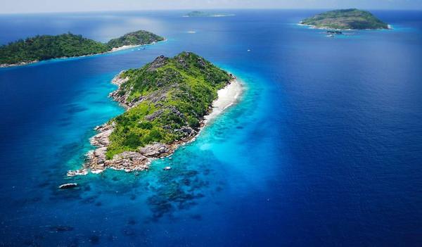 Die Seychellen von oben