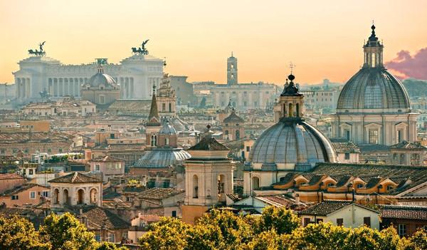 Über den Dächern von Rom, Italien